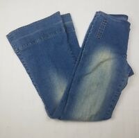 Gasoline Womens Size 5 Jeans Stretch Flare Pants Medium Light Wash