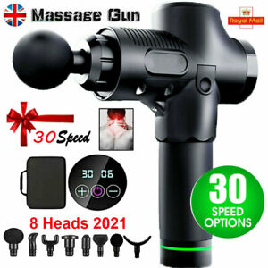 30 Speed 8 Heads Percussion Massage Gun Muscle Vibration Relaxing Therapy Tissue