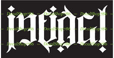Infidel Ambigram - Kafir - Cars/SUV's Vinyl Die-Cut Peel N' Stick Decal/Sticker