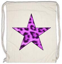 Purple Leopard per STAR LOGO II turn BUSTINA Leo Tatuaggio pelliccia STELLA CAT