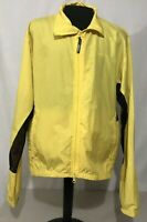 Performance Bike Mens Long Sleeve Black &Yellow Windbreaker Cycling  Jacket XL