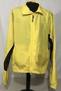 Performance Bike Mens Long Sleeve Black &Yellow Windbreaker Cycling  Jacket XL
