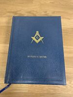 RARE Oversize Masonic Edition Bible 1968 Holman Leather Gold Gilding Vintage