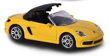 Majorette 212052793 - Cars - Porsche 718 Boxter - Gelb (ca. 6-7cm)