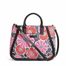 Vera Bradley Trapeze Tote Shoulder Hand Bag  in Cheery Blossoms NWT