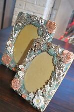 SHABBY CHIC VINTAGE FLORAL PHOTO FRAME PICTURE FRAME DECOR PAIR