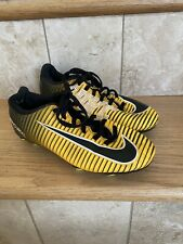 Nike Soccer cleats shoes youth mercurial Sz 4.5 black/yellow