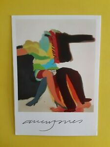 "Allen Jones > SIGNED  Gallery Card , "" Man Woman 1963 ""   4.0 X 5.75 inch > RARE"