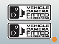 Vehicle camera fitted decal pair 145x56mm / in car CCTV /Dashcam Warning Sticker