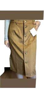 Womens, Suede Look Skirt, With Buttons, By Avon
