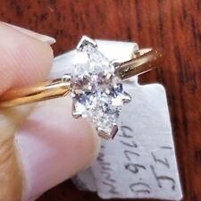 Solitaire Engagem Ring,Cente 0.97 Carat J I1  Diamond , 14k  Yellow Gold, Size 7