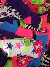 Lot Of 20 Girls Reversible Crew Socks Assorted Colors-Design-Shoe Size 9-11