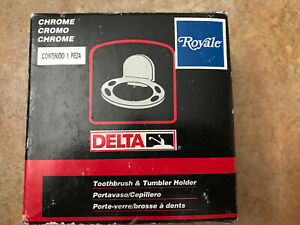 Delta Toothbrush & Tumbler Holder 74024C Chrome (matching Soap Dish available)