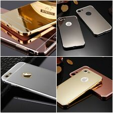Metal Mirror Case iPhone 4S Slim Reflective Protective Aluminum + GLASS