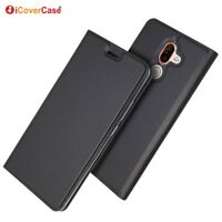 Magnetic PU Leather Flip Case Shockproof Card Cover for Nokia 7 Plus
