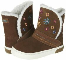NIB Stride Rite Shoes Dixie Chestnut Brown Boots 10 M