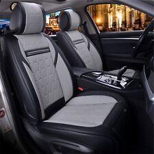 Housse de siège voiture jeu complet Gris Noir en cuir NEUF