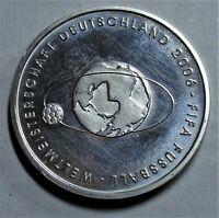 10,- Euro 2004 SILBER - Fussball-WM 2006 in Deutschland - im Zustand: vz+ / xf+