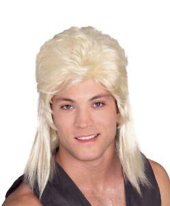 1 New Blonde 80s Mullet Tiger King Hulk Hogan Joe Exotic Fancy Dress Costume Wig