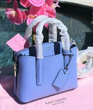 🌸 NWT Kate Spade Margaux Mini Satchel Leather Bag Forget-Me-Not Blue NEW $248