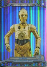Star Wars Chrome Perspectives Gold Refractor Parallel Base #5E C-3PO