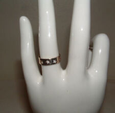 SILVER  925  RING OPEN LACE  SIZE 7  BRIGHT AND SHINY