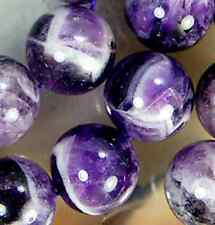 12mm Natural Dog Teeth Amethyst Round Beads 15.5""