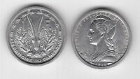 CAMEROON FRENCH MANDATE – 1 FRANC UNC COIN 1948 YEAR KM#8 GAZELLE