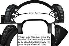 BLACK STITCH FITS CORVETTE C6 2005-2013 2X DASH PODS LEATHER WRAPS COVERS ONLY