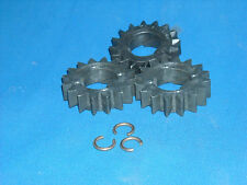 3 briggs & stratton engine starter gears + 3 retainer c-rings part