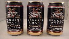 MILLER GENUINE DRAFT Harley Davidson Beer Can Coin Bank Set of 3 95th Year VTG