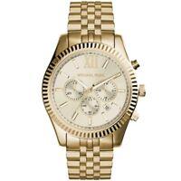 Orologio Uomo Michael Kors Lexington MK8281 Cronografo in Acciaio Dorato