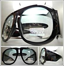 OVERSIZED EXAGGERATED VINTAGE RETRO Style SUN GLASSES Super Thick XL Green Lens