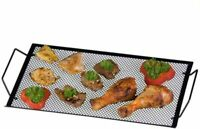 BBQ Tray Metal Barbecue Tray 40 x 22 cm - Black BBQ Frying Grill Tray