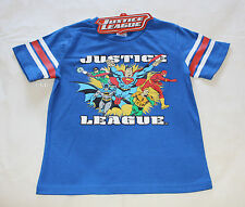DC Comics Justice League Boys Blue Printed Short Sleeve T Shirt Size 3 New