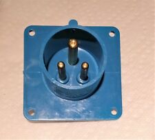Pin and Sleeve 16A  220V  GARO  Blue Panel mount 3-Pin POWER INLET