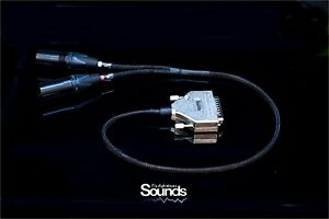 D-Sub Summing Cable 8 Channels Balanced Analog DAW Mixing Signals XLR