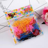 520Pcs/Pack Color Kids Elastic Hair Rubber Rope Ponytail Ties bara New