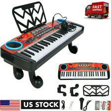 49 Keys Digital Music Electronic Piano Keyboard Kids Gift Electric Toys w/ Mic
