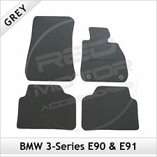BMW SERIE 3 E90 E91 2005-2013 2-Clip montato su misura moquette tappetini Grigio