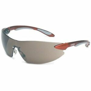 Uvex S4411 Ignite Safety Glasses Gray Lens Color Metallic Red/Silver Frame