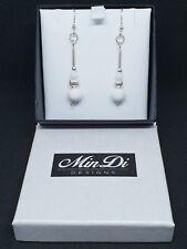 Handmade earrings made from Sterling Silver & White Jade