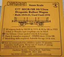 CAMBRIAN C77  KIT SECR SR10/12ton DROPSIDE BALLAST WAGON  NEW OO GAUGE