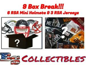 MINNESOTA VIKINGS RSA 9 BOX (6 Mini Helmets & 3 Jerseys) Break