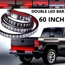 """60"""" Double LED Truck Tailgate Light Bar Reverse Brake Signal Flexible Strip Kit"""