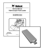 Bobcat T320 Compact Track Loader Workshop Repair Service Manual on New USB Stick