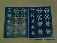 2 x Snowflake face painting stencil sheets reusable many times  Frozen