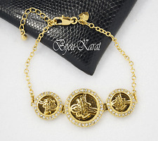 24 Karat GP Tugra Gold Armband Türkisches Modell Imitation Altin Kaplama Bilezik