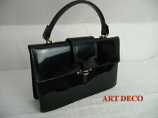 sac    ART DECO  verni noir   vintage