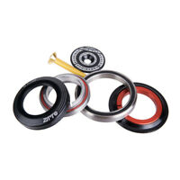 """ZTTO Bicycle CNC Bearing Headset 42mm 52mm CNC 1 1/8""""-1 1/2"""" Tapered Tube fork"""